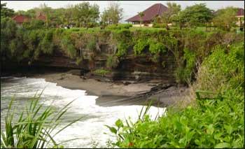 Cliff at Tanah Lot Temple