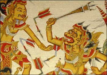 Painting at Klungkung