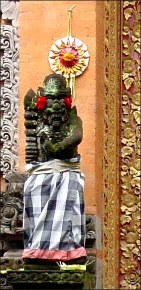 Statue Wearing Sarong