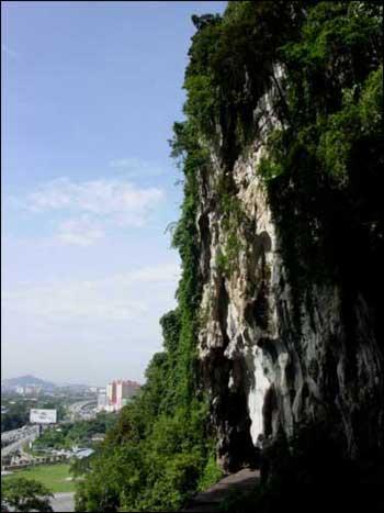 Cliffs just outside Kuala Lumpur