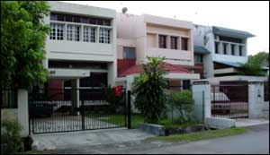 Suburban street in Shah Alam