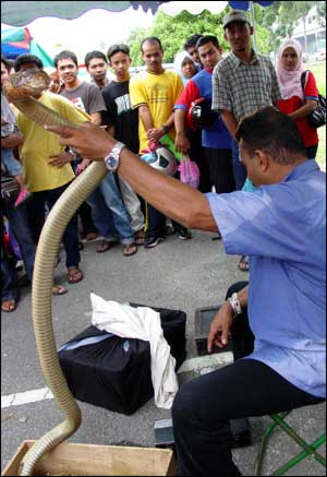 Man at Shah Alam market
