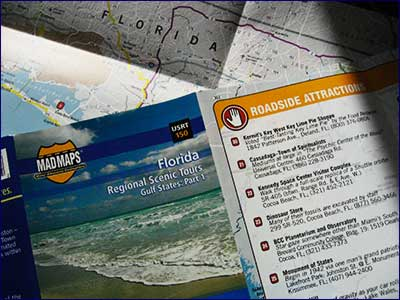 Map Maps Regional Scenic Tours Florida