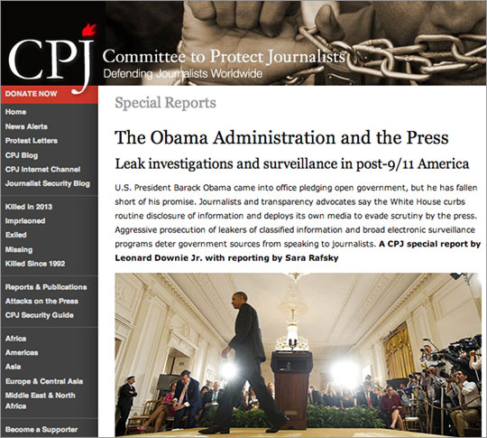 CPJ site: The report