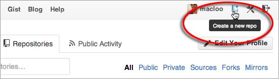 GitHub image - Create a new repo