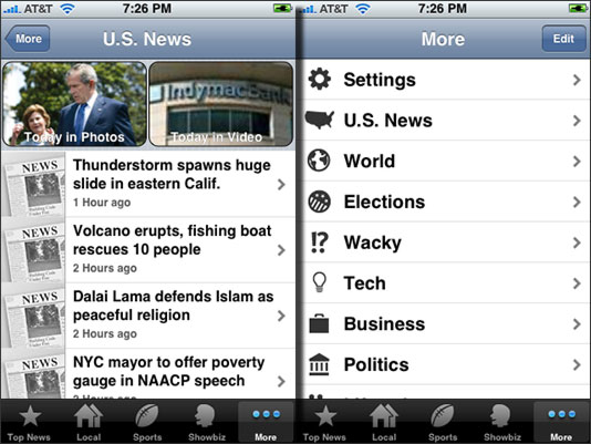 Mobile News from AP for iPhone