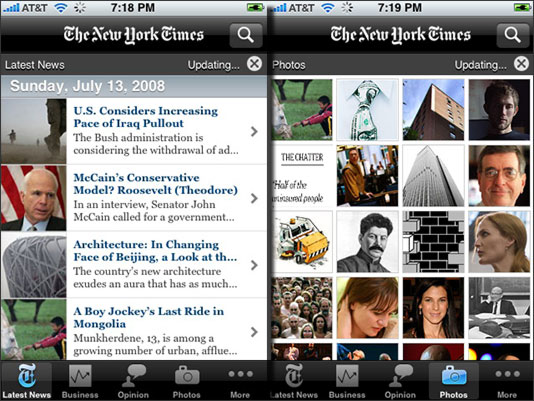 New York Times app for iPhone