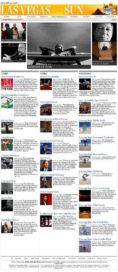 Las Vegas Sun multimedia page