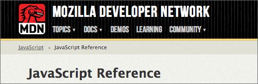 Logo: MDN JavaScript Reference