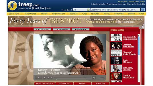 Respect: Detroit Free Press