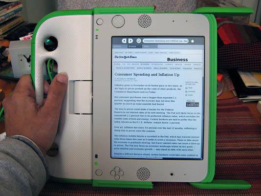 XO Laptop from OLPC